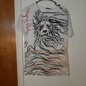 Antony Morato Black Mens Lion T Shirt Sz M